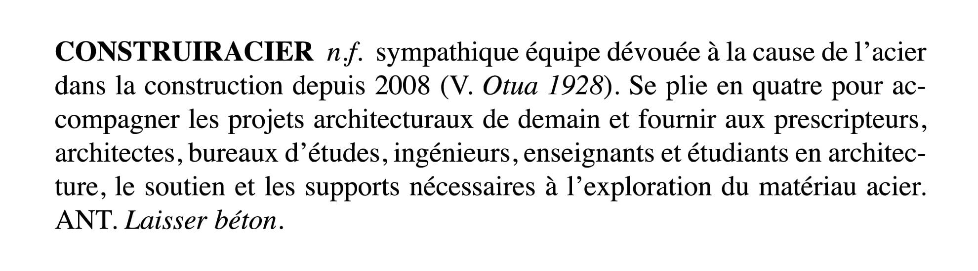 definition-construiracier