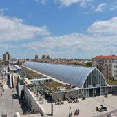 Gare de Montpellier Saint-Roch - Vue en hauteur  sur pont de Sete (Juillet 2014)