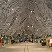 Gare de Montpellier Saint-Roch, le hall de nuit (sept. 2014)