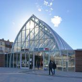 Gare de Montpellier Saint-Roch, le pignon vitre (dec. 2014)