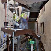 Musée et Fondation de l'Oeuvre Notre Dame, pose de l'escalier i